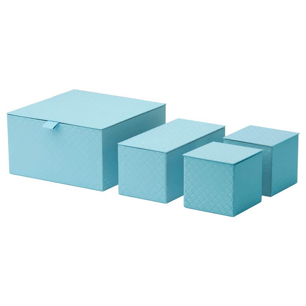 Набор коробок с крышкой (4 штуки) ПАЛЬРА
