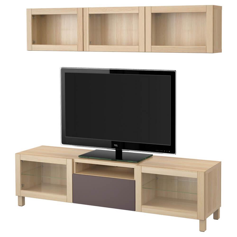 Шкаф для ТВ (комбинированные и стеклянные дверцы) БЕСТО