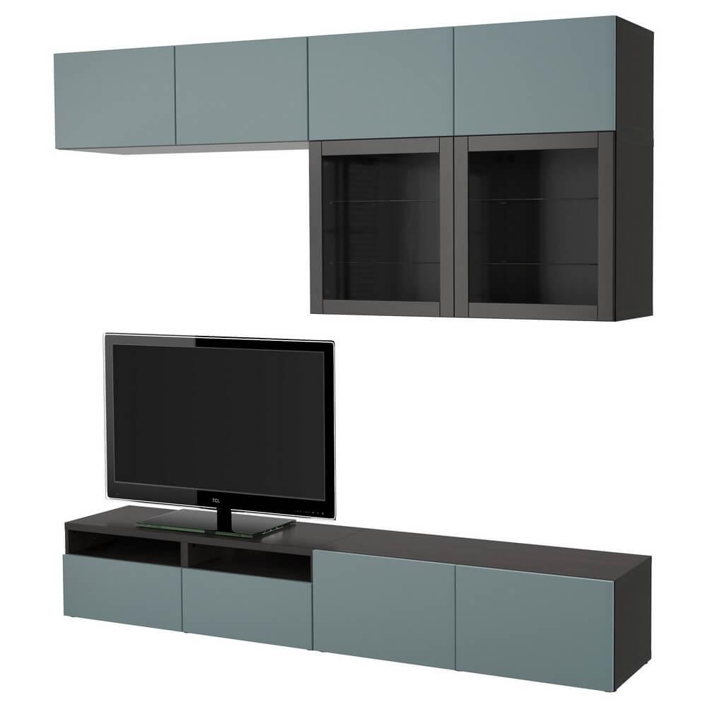 Шкаф для ТВ (комбинированные и стекляные дверцы) БЕСТО