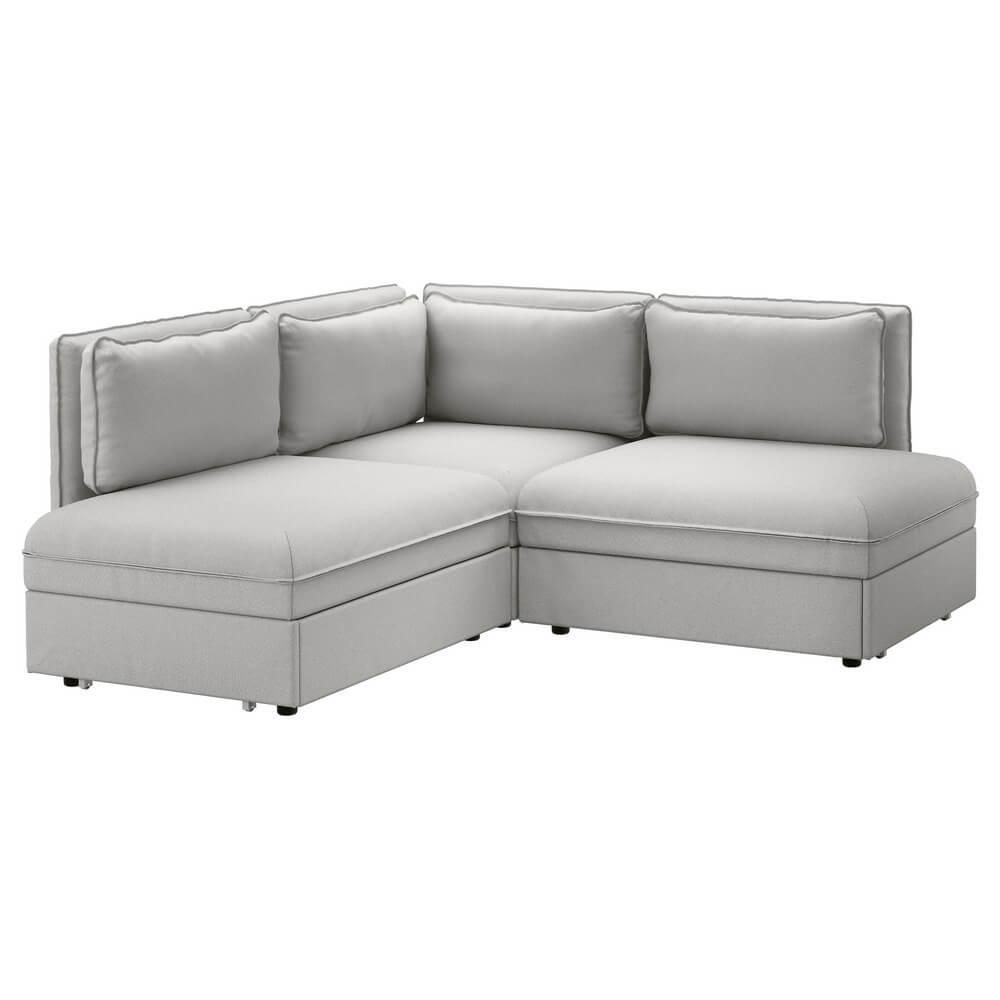 Трехместный угловой диван-кровать ВАЛЛЕНТУНА