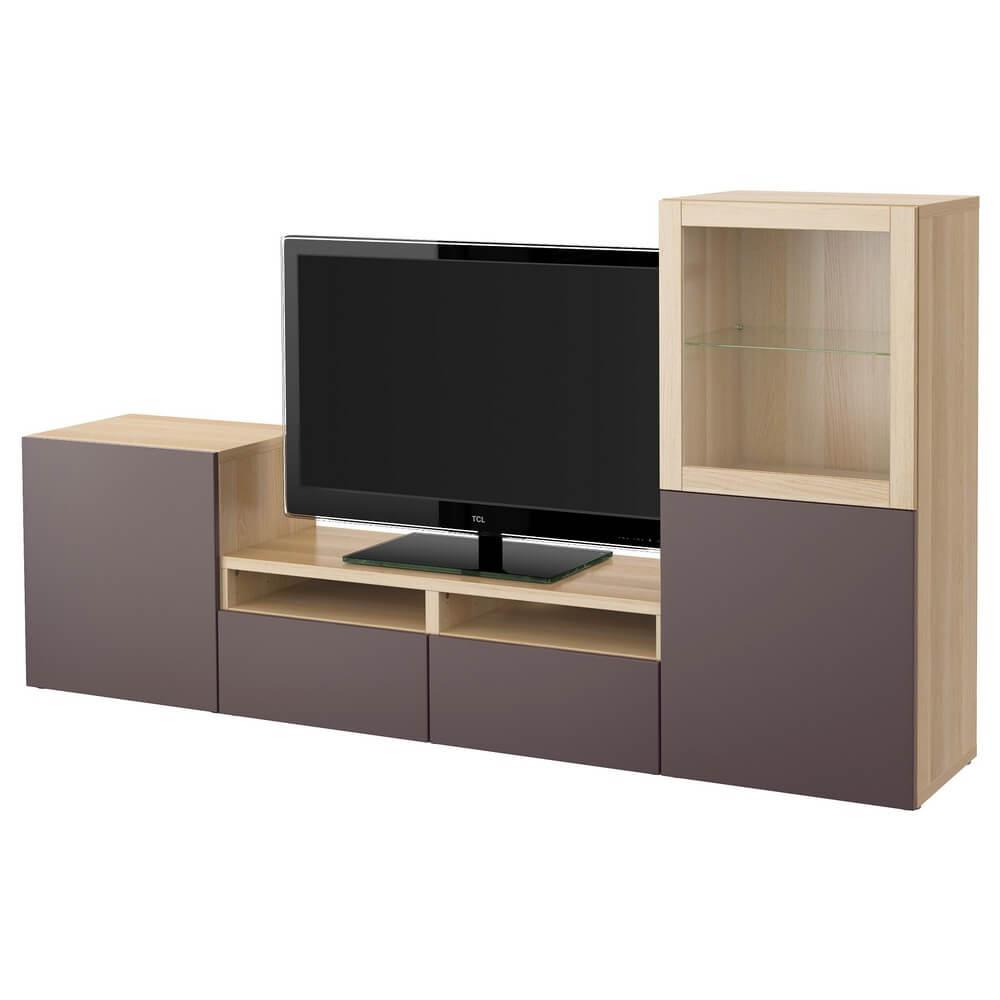Шкаф для ТВ (комбинация со стеклянными дверцами) БЕСТО