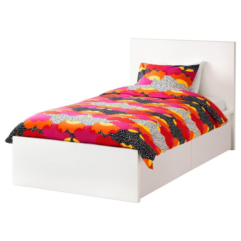 Каркас кровати с 2 кроватными ящиками МАЛЬМ